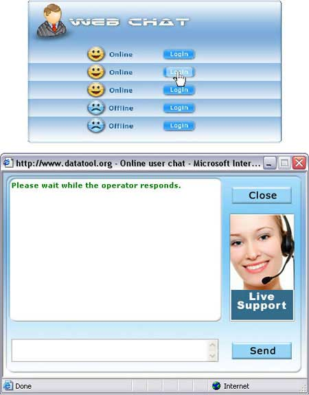 Ajax based multi operator chat software provides live communication among multiple clients and customer support executives through offline messages, conferencing, online chat event etc. Offline message can also be stored using multiuser chat utility.
